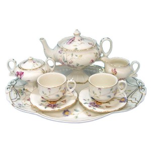 Petite Floral Tea Set for Kids (10 pieces)